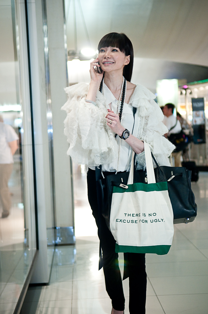 Dr Georgia Lee with her stylish eco bag, free with $250 worth of products at Robinsons