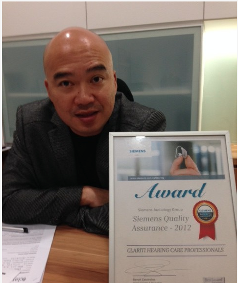 Ronald Pang at Clariti Hearing Care Professionals.