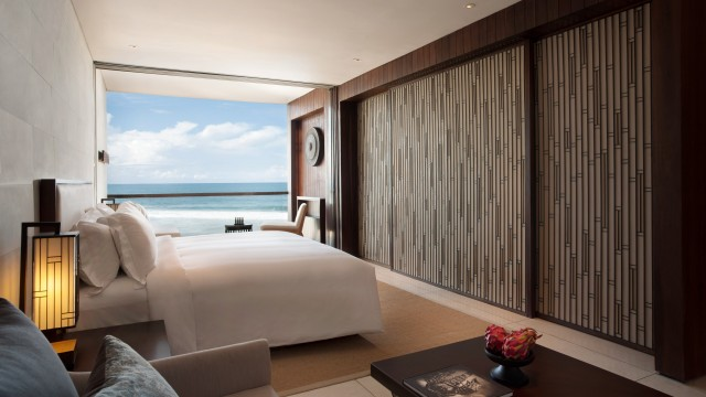Our stunning Ocean Suite with a view of the Indian Ocean.