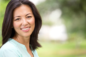 asian woman at 40